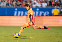 FRISCO, TX - MARCH 11: Ayaka Yamashita #18 of Japan punts the ball during a game between Japan and USWNT at Toyota Stadium on March 11, 2020 in Frisco, Texas.