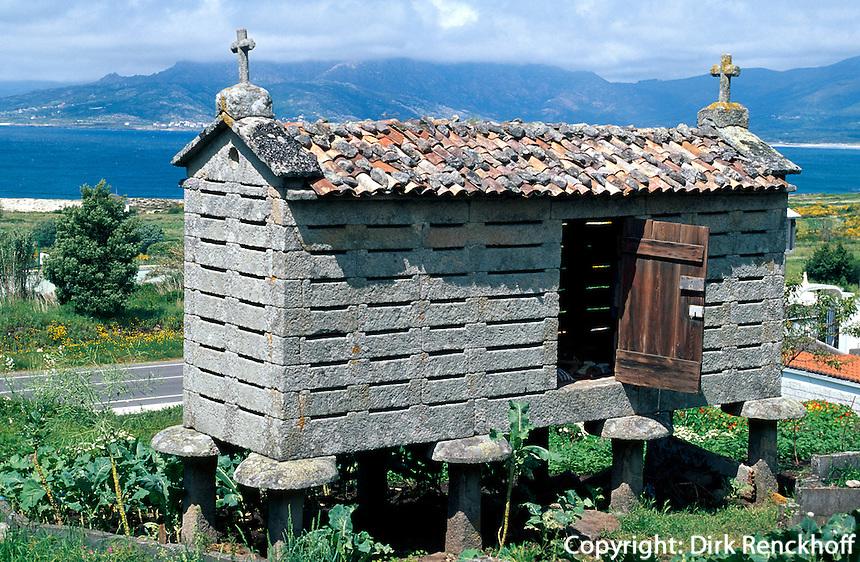 Hórreo (Speicher), Galicien, Spanien