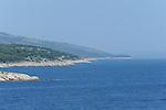 Croation coastline along the Adriatic Sea.