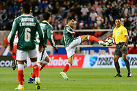 Harrison, NJ - Tuesday April 10, 2018: Orbelin Pineda during leg two of a  CONCACAF Champions League semi-final match between the New York Red Bulls and C. D. Guadalajara at Red Bull Arena. C. D. Guadalajara defeated the New York Red Bulls 0-0 (1-0 on aggregate).