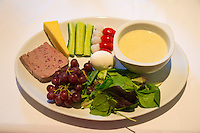 Northumberland, England, UK.  Ploughman's Supper Served at Carraw B&B on Hadrian's Wall Footpath.