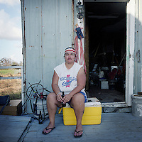 Sandra 'Cookie' Naquin's family have lived in the predominantly Native American community of Isle Jean Charles, Louisiana for generations and are one of the largest and last families to remain in spite of the annual threat of hurricanes.