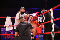 19th December 2020, Hamburg, Germany; Universal Boxing Promotion fight, Felix Sturm versus Timo Rost; Rost gets instructions from his corner
