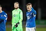 St Johnstone v Hearts…30.10.19   McDiarmid Park   SPFL<br />Murray Davidson shows his delight at full time<br />Picture by Graeme Hart.<br />Copyright Perthshire Picture Agency<br />Tel: 01738 623350  Mobile: 07990 594431