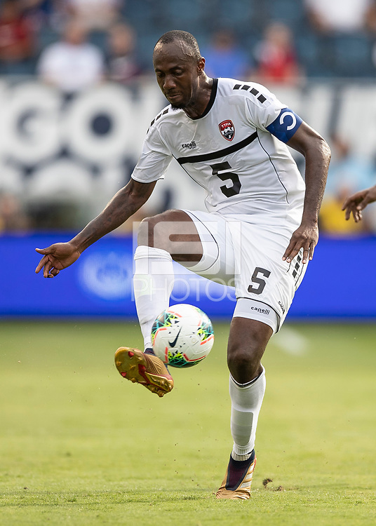 KANSAS CITY, KS - JUNE 26: Daneil Cyrus #5 during a game between Guyana and Trinidad