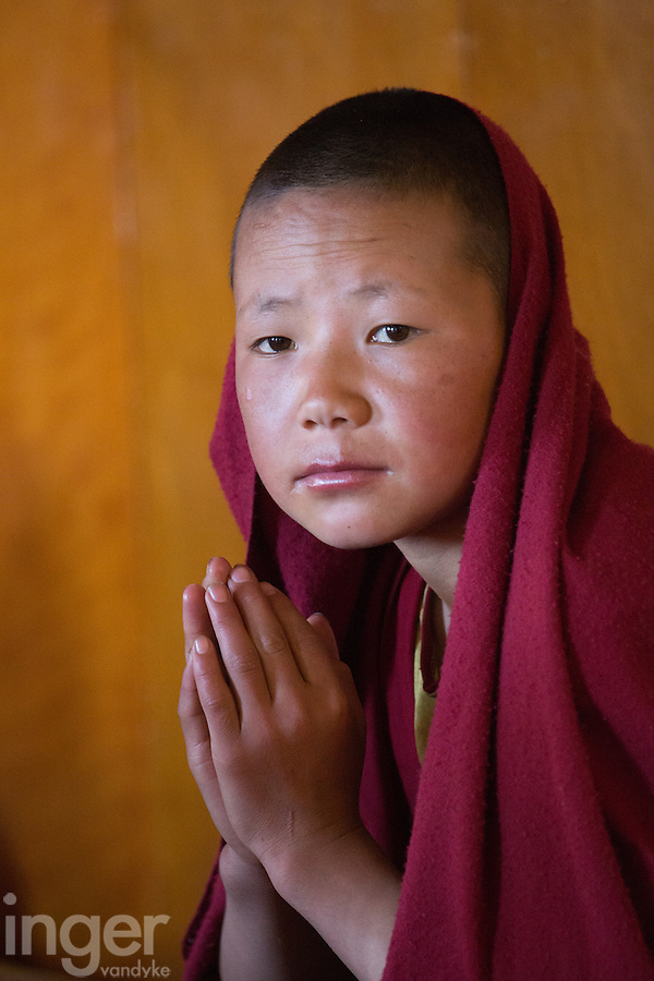 Young monk at Thiksey Monastery near Leh, Ladakh