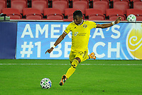 WASHINGTON, DC - OCTOBER 28: Luis Diaz #12 of Columbus Crew SC moves the ball during a game between Columbus Crew and D.C. United at Audi Field on October 28, 2020 in Washington, DC.