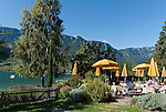 Italien, Suedtirol, Kaltern am Kalterer See, Ortsteil Klughammer: Parc Hotel am See, dem waermsten Badesee der Alpen | Italy, Alto Adige - Trentino (South Tyrol), Lago di Caldaro, district Campi al lago: Parc Hotel al Lago, the warmest swimming lake of the Alps