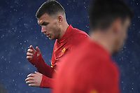 Edin Dzeko of AS Roma warms up during the Serie A football match between AS Roma and UC Sampdoria at Olimpico stadium in Roma (Italy), January 3rd, 2021. Photo Andrea Staccioli / Insidefoto