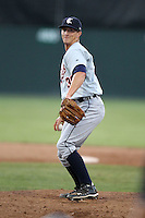 Connecticut Tigers pitcher Tyler Clark (30) during a double header vs. the Batavia Muckdogs at Dwyer Stadium in Batavia, New York July 10, 2010.  Connecticut dropped the first game 3-5 then defeated Batavia 8-1 in the night cap.  Photo By Mike Janes/Four Seam Images