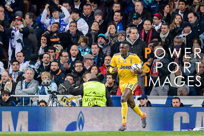 Blaise Matuidi of Juventus celebrates after scoring his goal during the UEFA Champions League 2017-18 quarter-finals (2nd leg) match between Real Madrid and Juventus at Estadio Santiago Bernabeu on 11 April 2018 in Madrid, Spain. Photo by Diego Souto / Power Sport Images