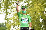 Green Jersey Peter Sagan (SVK) Bora-Hansgrohe at sign on before the start of Stage 9 of Tour de France 2020, running 153km from Pau to Laruns, France. 6th September 2020. <br /> Picture: ASO/Alex Broadway   Cyclefile<br /> All photos usage must carry mandatory copyright credit (© Cyclefile   ASO/Alex Broadway)