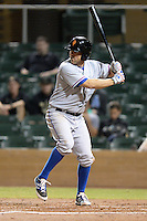 Surprise Saguaros first baseman Brett Nicholas (19), of the Texas Rangers organization, during an Arizona Fall League game against the Salt River Rafters on October 15, 2013 at Salt River Fields at Talking Stick in Scottsdale, Arizona.  Surprise defeated Salt River 9-2.  (Mike Janes/Four Seam Images)