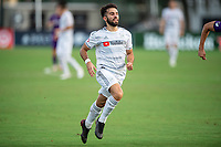 LAKE BUENA VISTA, FL - JULY 31: Diego Rossi #9 of LAFC runs toward the ball during a game between Orlando City SC and Los Angeles FC at ESPN Wide World of Sports on July 31, 2020 in Lake Buena Vista, Florida.