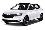 2018 Skoda Fabia Monte-Carlo 5 Door Hatchback Angular Front automotive stock photos of front three quarter view