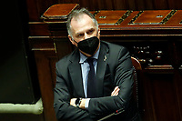 The Minister of Tourism Massimo Garavaglia at the Chamber of Deputies during the discussion and vote of confidence in the new Government. Rome (Italy), February 18th 2021<br /> Photo Samantha Zucchi Insidefoto