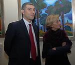 ALFONSO PECORARO SCANIO CON EMMA BONINO<br /> PARTY  PER LA PRESIDENZA DEL CONSIGLIO D'EUROPA<br /> RESIDENZA DELL'AMBASCIATORE TEDESCO - VILLA ALMONE     ROMA 2007