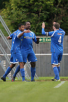 Bishop's Stortford players celebrate their first goal scored by Ricky Sappleton (C) - AFC Hornchurch vs Bishop's Stortford - FA Trophy 3rd Qualifying Round Football at The Stadium, Upminster Bridge, Essex - 10/11/12 - MANDATORY CREDIT: Gavin Ellis/TGSPHOTO - Self billing applies where appropriate - 0845 094 6026 - contact@tgsphoto.co.uk - NO UNPAID USE