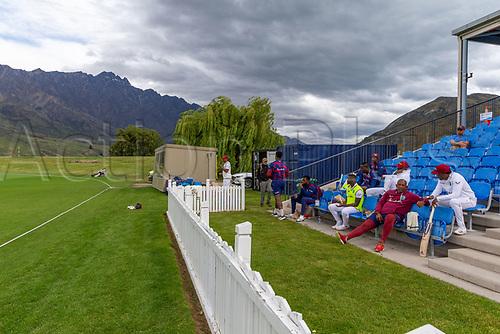 20th November 2020; John Davies Oval, Queenstown, Otago, South Island of New Zealand. New Zealand A versus  West Indies. West Indies bench