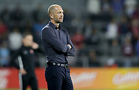 ORLANDO, FL - NOVEMBER 15: Head coach of the United States men's national team Gregg Berhalter looks on during a game between Canada and USMNT at Exploria Stadium on November 15, 2019 in Orlando, Florida.
