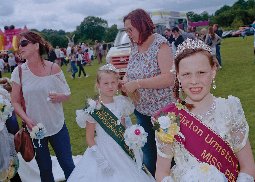 """Miss Personality Queen of Flixton, Urmston & Davyhulme, Anna Kirrane, with Personality Rosebud Ffion Martin..<br /> <br /> """"A dress will be provided to use on the carnival day. This is returned at end of the day."""""""