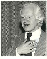 Pierre Bourgault<br /> , date inconnue, probalement fin des années 70.<br /> <br /> PHOTO : Agence Quebec Presse