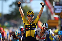4th September 2020; Millau to Lavaur, France. Tour de France cycling tour, stage 7;  Peleton Wout Van Aert BEL - Team Jumbo - Visma CYCLISME