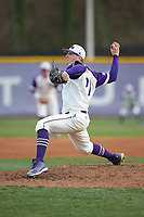 High Point Panthers starting pitcher Andrew Gottfried (21) in action against the Campbell Camels at Williard Stadium on March 16, 2019 in  Winston-Salem, North Carolina. The Camels defeated the Panthers 13-8. (Brian Westerholt/Four Seam Images)