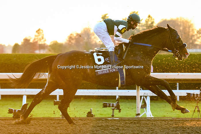 November 7, 2020 :Higher Power races in the Longines Classic on Breeders' Cup Championship Saturday at Keeneland Race Course in Lexington, Kentucky on November 7, 2020. Jessica Morgan/Breeders' Cup/Eclipse Sportswire/CSM