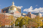 Massachusetts State House on Freedom Trail, Boston National Historical Park, Boston, MA