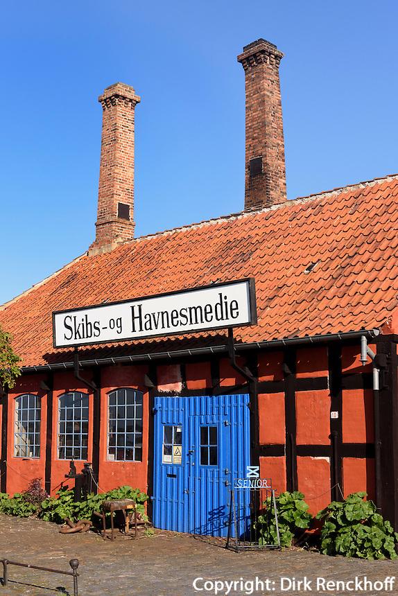 Alte Hafenschmiede in Rønne, Insel Bornholm, Dänemark, Europa<br /> Old harbor forge, Roenne, Isle of Bornholm, Denmark