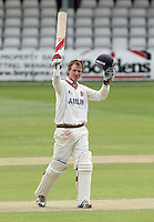 Tom Westley celebrates a century, 100 runs, for Essex - Essex CCC vs Kent CCC - LV County Championship Division One Cricket at the Ford County Ground, Chelmsford -  12/05/10 - MANDATORY CREDIT: Gavin Ellis/TGSPHOTO - Self billing applies where appropriate - Tel: 0845 094 6026