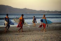 Costa Rica - file Photo -Tamarindo,surfers at dawn