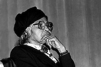 Rosa Parks, civil rights activist,in Boston MA October, 1983