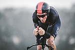 Tao Geoghegan Hart (GBR) Ineos Grenadiers in action during Stage 5 of the 2021 Tour de France, an individual time trial running 27.2km from Change to Laval, France. 30th June 2021.  <br /> Picture: A.S.O./Pauline Ballet | Cyclefile<br /> <br /> All photos usage must carry mandatory copyright credit (© Cyclefile | A.S.O./Pauline Ballet)