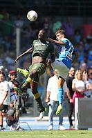 Mario Balotelli of Brescia and Giovanni Di Lorenzo of Napoli compete for the ball<br /> Napoli 29-9-2019 Stadio San Paolo <br /> Football Serie A 2019/2020 <br /> SSC Napoli - Brescia FC<br /> Photo Cesare Purini / Insidefoto