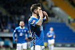 St Johnstone v Hamilton Accies…10.11.18…   McDiarmid Park    SPFL<br />Matty Kennedy celebrates his goal<br />Picture by Graeme Hart. <br />Copyright Perthshire Picture Agency<br />Tel: 01738 623350  Mobile: 07990 594431