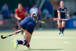 Mannheim, Germany, September 12: During the 1. Bundesliga women fieldhockey match between Mannheimer HC (blue) and Ruesselsheimer RK (red) on September 12, 2020 at Am Neckarkanal in Mannheim, Germany. Final score 2-0 (HT 1-0). (Copyright Dirk Markgraf / www.265-images.com) ***