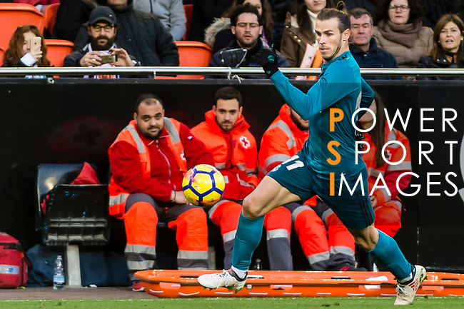 Gareth Bale of Real Madrid in action during the La Liga 2017-18 match between Valencia CF and Real Madrid at Estadio de Mestalla  on 27 January 2018 in Valencia, Spain. Photo by Maria Jose Segovia Carmona / Power Sport Images