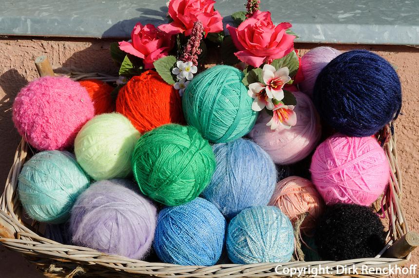 Verkauf von Wolle in Kaunas, Litauen, Europa