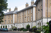 BNPS.co.uk (01202) 558833<br /> Pic: BNPS<br /> <br /> Pictured: The duo struck at Woodlands Crescent in Prince Charles's Poundbury in Dorset in July.<br /> <br /> The 'Rolex Rippers' are believed to have struck 23 times in southern England, especially in Dorset and Hampshire.<br /> <br /> The serial watch thieves target elderly men for their expensive watches in affluent areas and close to exclusive golf clubs.