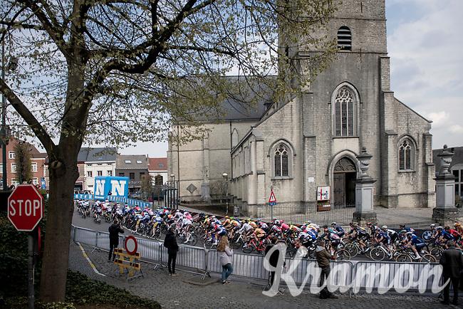 peloton in Overijse<br /> <br /> 61st Brabantse Pijl 2021 (1.Pro)<br /> 1 day race from Leuven to Overijse (BEL/202km)<br /> <br /> ©kramon