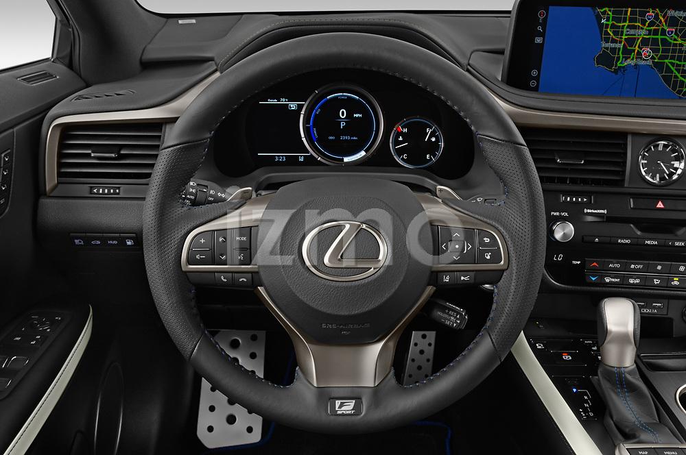 Car pictures of steering wheel view of a 2021 Lexus RX 450h-F-SPORT 5 Door SUV Steering Wheel