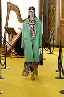 A model showing the Gucci Cruise 2018 collection, which took place in Florence, at the Palazzo Pitti, the hometown of the original Gucci house, with renaissance inspirations for the artistic director of the house, Alessandro Michele.<br /> The whole show is a part of a cultural action that the house of Gucci is engaging with the city of Florence.<br /> Alessandro Mille, the artistic director of Gucci.