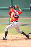 March 23rd 2008:  Sung Ki Jung of the Atlanta Braves minor league system during Spring Training at Disney's Wide World of Sports in Orlando, FL.  Photo by:  Mike Janes/Four Seam Images