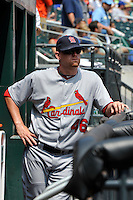 St. Louis Cardinals pitcher Kyle McClellan #46 during a game against the New York Mets at Citi Field on July 21, 2011 in Queens, NY.  Cardinals defeated Mets 6-2.  Tomasso DeRosa/Four Seam Images
