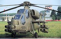 """- A 129 """"Mangusta"""" antitank attack helicopter, 5th Air Cavalry Regiment""""Rigel"""" of Casarsa (Friuli)....- elicottero da combattimento anticarro A 129 """"Mangusta"""", 5° reggimento Cavalleria dell'Aria """"Rigel"""" di Casarsa (Friuli)"""