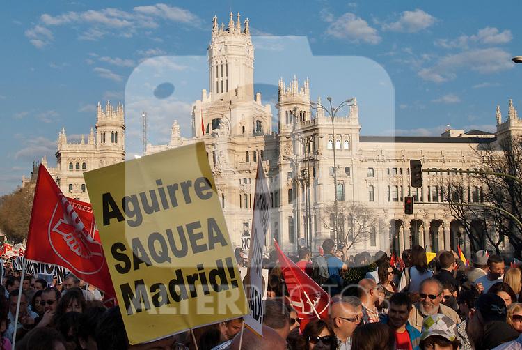 Big demonstration in Madrid during the general strike..(ALTERPHOTOS/Muñoz Alconada)