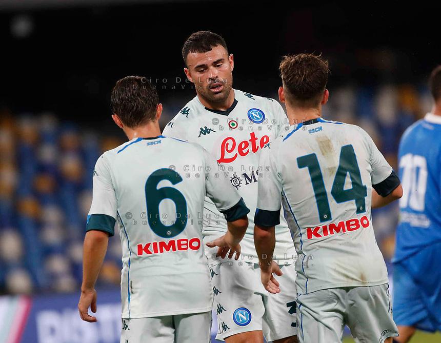 Andrea Petagna during a friendly match Napoli - Pescara  at Stadio San Paoli in Naples