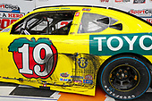 Details of #19: Brandon Jones, Joe Gibbs Racing, Toyota Supra 03 Dash Championship car in victory lane